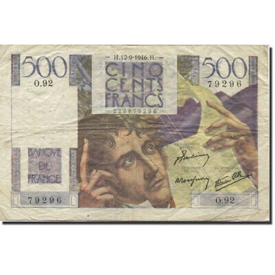 [#278600] France, 500 Francs, Chateaubriand, 1945, 1946-09-12, TB