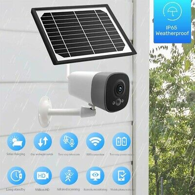 1080P Solar Powered Wireless Outdoor WIFI Surveillance CCTV Security IP Camera