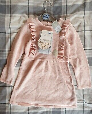 Primark Jumper Dress And Tights Set - Size 2-3 Years