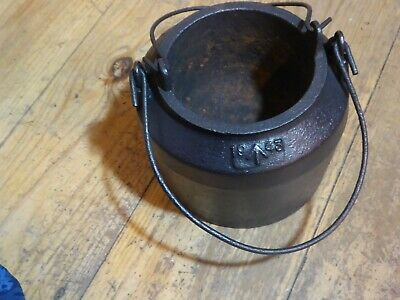 Cast Iron Army Glue Pot 1943 Wartime. Seems Very Rare No Other Online Anywhere