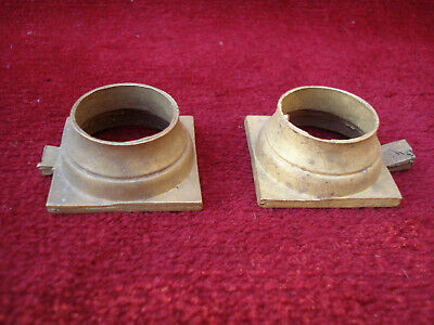 Pair Cast Brass Capitals For 18Th C Longcase Clock Hood 2