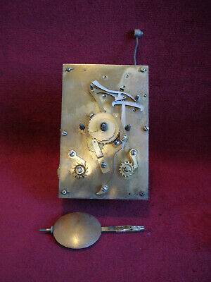 Very Good Qual 19Th C Striking Fusee Movement + Pendulum  Bracket/Lantern Clock