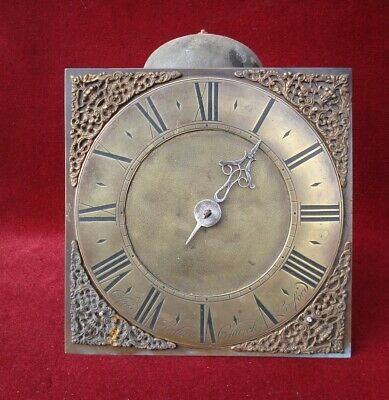 "C Holtum Church Lawford 18 C Quaker 10"" Dial Iron Birdcage 30 Hr Clock Movement"