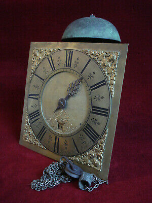 "William Budgen Reigate Fecit Early 18Th C 10"" Brass Dial Birdcage 30 Hr Movement"