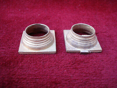 Pair Cast Brass Capitals For 18Th C Longcase Clock Hood 1