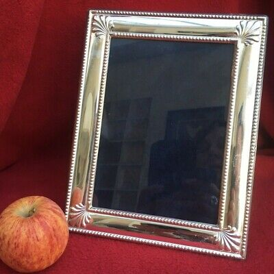 "SOLID STERLING SILVER BEADED PHOTO FRAME PORTRAIT or LANDSCAPE 1995 7""X 5"" PHOTO"