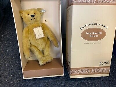 Steiff Tier 406072 British Collectors Teddy Bär 40 cm. Ovp & Zertifikat.
