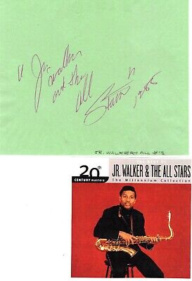 Junior Walker & the All Stars signed album page!  Motown Star!