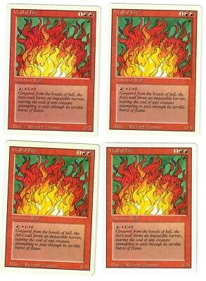 Wall of Fire X4 MTG NM Revised *CCGHouse* Magic