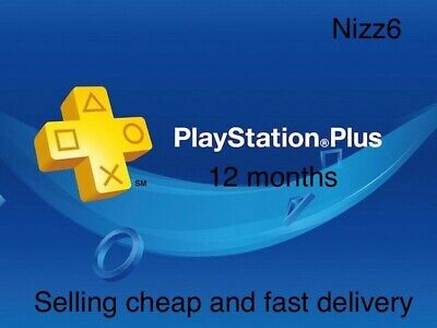 Sony PlayStation PLUS 12 MONTH PS4-PS3-PSVita -  (NO CODE)