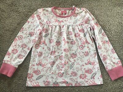Girls Age 11-12 Pink Horse Pj Top From Joules