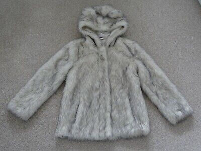 Girl's Faux Fur Hooded Coat from TU at Sainsburys Age 7-8 Years