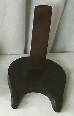 Plate Stand Antique Mahogany Display
