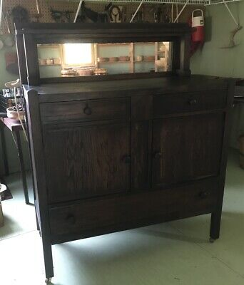 Antique Arts and Crafts Mission Style Oak Sideboard/Buffet Refinished