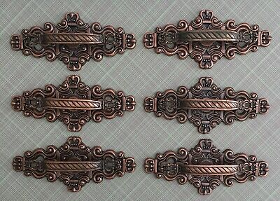 Lot Of Vintage Hyer Drawer Pulls With Very Ornate Backplates