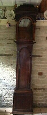 George Iii Oak And Mahogany Longcase Clock Case