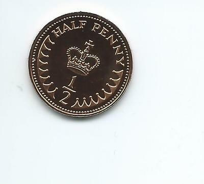 1983  Royal Mint Proof 1/2p coin taken from a Royal Mint Proof Set.