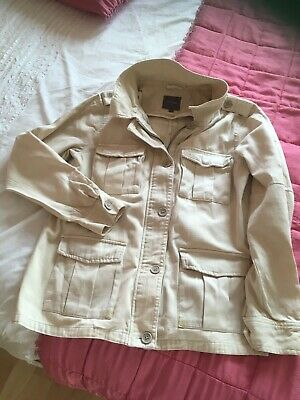 🌺Next Uk12 Cream Utility Summer Jacket Coat Breast/Front Pockets
