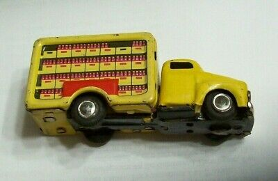 """Vintage 1950's 4"""" Coca Cola Tiny Giant Delivery Truck Japan Friction"""