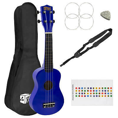 Mad About Beginners Blue Soprano Ukulele with Strap