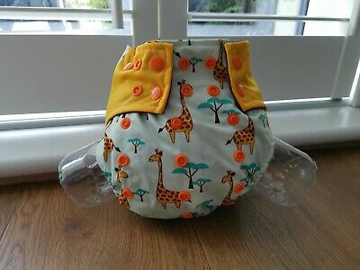 Reusable Washable Cloth Nappy with bamboo charcoal insert - Giraffe