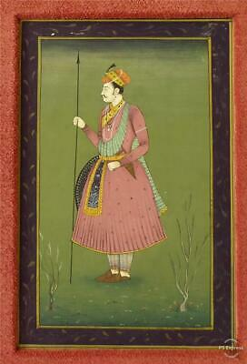 Antique Late 19Th Early 20Th Century Indian Watercolour Of A Nobleman