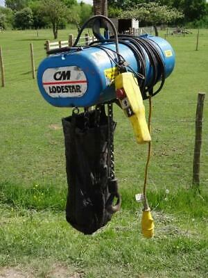 CM LODESTAR 1000KG 1 Ton 110v 6m Single Phase Electric Chain Hoist