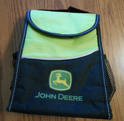 John Deere lunchbag foldable insulated can cup holder outside