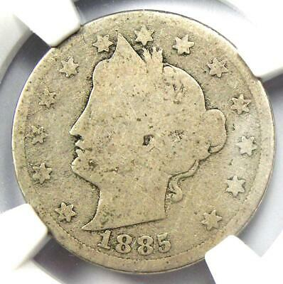 1885 Liberty Nickel 5C - Certified NGC AG3 - Rare Key Date Certified Coin!
