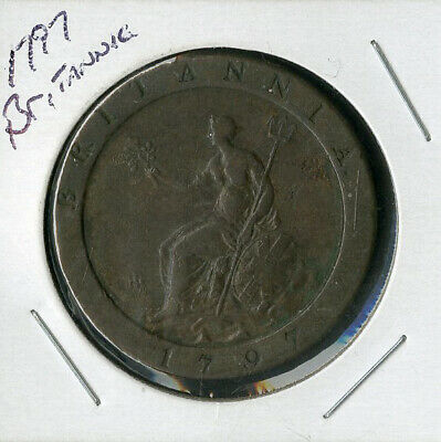 Great Britain Coin 1797 Big Old Two Pence George III
