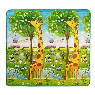 Baby Play Mat, Extra Soft Reversible EPE Playmat for Kids Infant Non Toxic