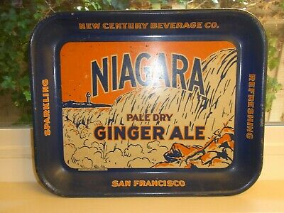 Vintage Niagara Pale Dry Ginger Ale Serving Tray New Century Beverage Co. 13""
