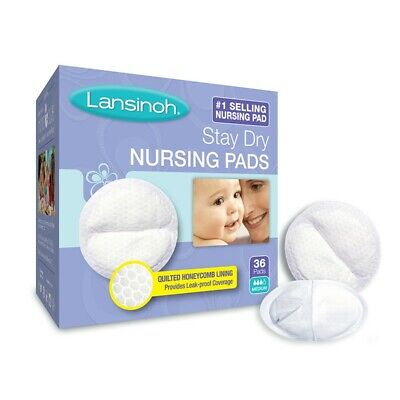 Lansinoh Nursing Pads, 3 Pack of 36 count (108) Stay Dry Disposable Breast Pads