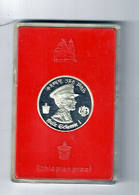 1972 - Proof Ethiopian $5 .999 Silver Coin!  #I1961