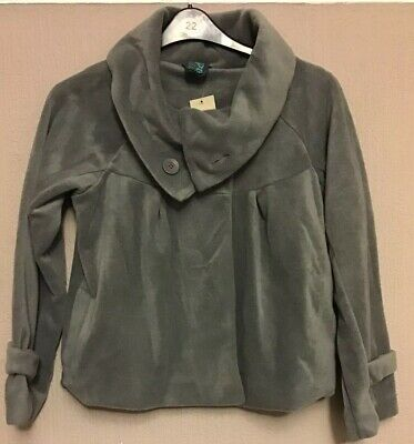 NEXT grey fleece jacket coat girl age 15 Years BNWT