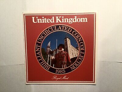 1985 United Kingdom Brilliant Uncirculated 7 Coin Collection Set