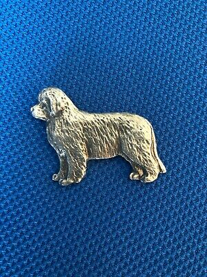 Beautiful detail in this Pewter NEWFOUNDLAND DOG Pin