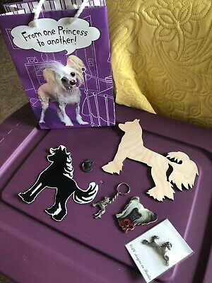 Collection of CHINESE CRESTED DOG collectibles ~ 7 items !!