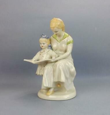 "Antique Soviet Russian Porcelain Figurine of ""First Letter"" by Polonia"
