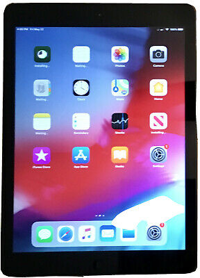 Apple iPad Air 1st Gen 128GB Wi-Fi+Cellular (T-Mobile) 9.7in Space Gray Unlocked