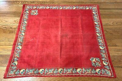 Antique Early Turkey Red Handkerchief Bandanna Collection Find
