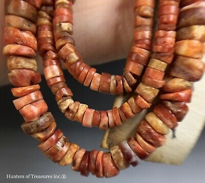 Necklace Ancient Pre Columbian Spondyllus Shell Beads Moche or Chimu Indians