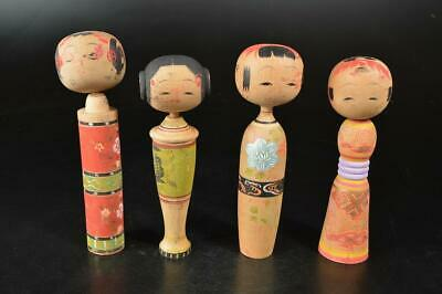 A7677: Japanese Wood carving DOLL Kokeshi ningyo wooden dolls Bundle sale