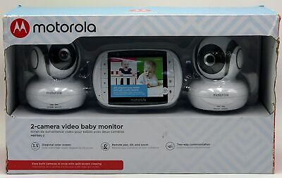 Motorola Video Baby Monitor With 2 Cameras 3.5 Inch LCD Screen-816479016158