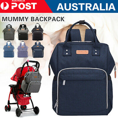 Large Mummy Nappy Diaper Bag Baby Travel Changing Nursing Backpack Waterproof
