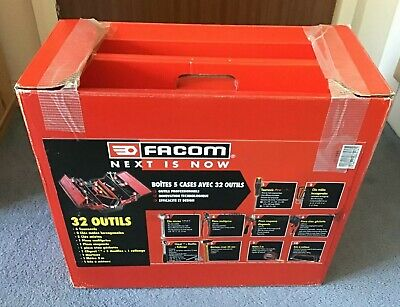 New Facom BT.11CM2PG metal container tray tool box 32 ratchet spanner set lot