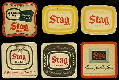 (9) Illinois/Wisconsin Beer Coasters STAR MODEL MONARCH STAG  No Reserve