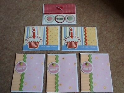 6 Handmade A6 Greetings Cards - Made To Raise Money For Charity