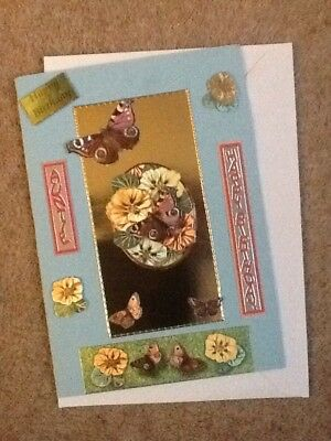 A5 Handmade AuntIe Birthday Card & Envelope - Made To Raise Money For Charity