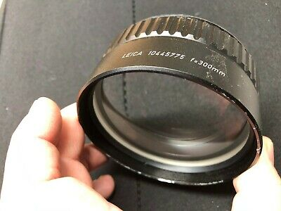 Used LEICA 10445775 680 F=300mm Lens for Operating Microscope
